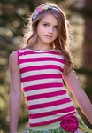 Persnickety Josie Tank Top with Pink Stripes