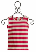 Persnickety Josie Tank Top with Pink Stripes (12Mos & 18Mos)