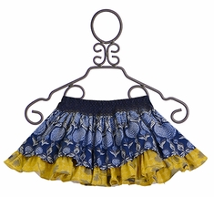 Persnickety Lily Skirt in Blue and Yellow