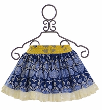 Persnickety Lily Skirt in Blue and Yellow (6-12Mos,2T,10,12)