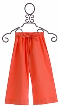 Persnickety Little Girls Beach Pants in Orange (12Mos,18Mos,3,5,6)