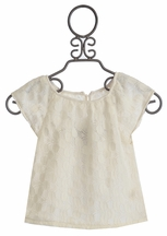 Persnickety Little Girls Top in White Phoebe