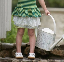 Persnickety Little Girls Tutu Skirt with Lace Heidi