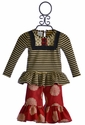 Persnickety Lou Lou Peplum Top and Gaucho Pant Set for Baby