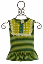 Persnickety Lou Lou Peplum Top for Little Girls (12Mos,18Mos,5,7)