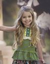 Persnickety Lou Lou Peplum Top for Little Girls