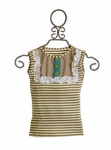 Persnickety Lou Lou Tank Top with Stripes Sweet Pea