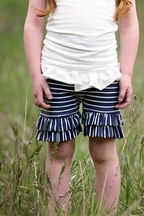 Persnickety Marley Double Ruffle Shorts for Girls Alpine Daisy
