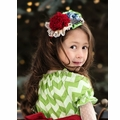 Persnickety Matching Girls Headband in Cranberry