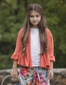 Persnickety Natalie Sweater for Girls Forget Me Not