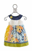 Persnickety Nellie Dress for Girls with Button (12Mos,18Mos,4,7)