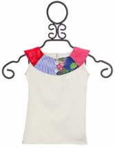 Persnickety Nora Girls Top in Ivory