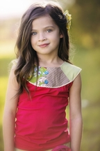 Persnickety Nora Top for Girls Daffodils and Dandelions
