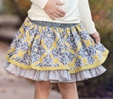 Persnickety October Sky Lily Skirt