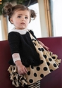 Persnickety Olivia Jumper in Black Polka Dot