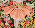 Persnickety Orange Lily Skirt