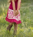 Persnickety Pink Reversible Skirt for Girls