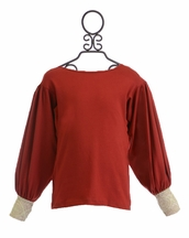 Persnickety Red Anna Jean Top (6 & 7)