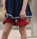 Persnickety Red Double Ruffle Shorts for Girls