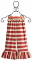 Persnickety Red Stripe Bell Pant for Girls
