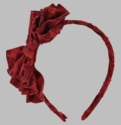 Persnickety Red Virginia Bow Headband