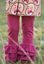 Persnickety Rose Triple Ruffle Legging (12 Mos & 8)