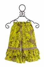 Persnickety Ruffle Bell Pants in Green Sweet Pea