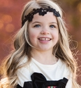 Persnickety Sally Tie Headband in Black