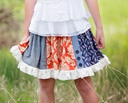 Persnickety Shirley Skirt for Little Girls Alpine Daisy