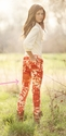 Persnickety Skinnies in Bright Red Floral