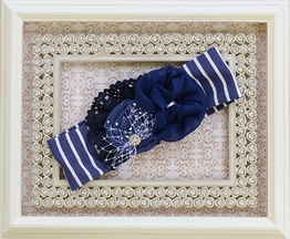 Persnickety Soft Headband for Little Girls Blue Bell