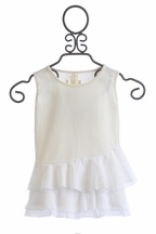 Persnickety Starshine Tank in White for Girls Forget Me Not (18Mos & 4)
