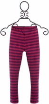 Persnickety Striped Leggings for Girls in Pink