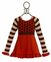 Persnickety Sugar Tunic in Red (Size 6-12Mos)