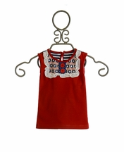 Persnickety Summer Celebration Infant Lou Lou Top