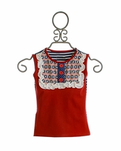 Persnickety Summer Celebration Lou Lou Tank for Girls