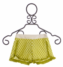 Persnickety Tillie Shorts for Girls with Green Dots (12Mos,18Mos,8,10)