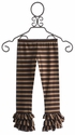 Persnickety Triple Ruffle Leggings Brown Stripe