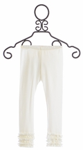 Persnickety White Ruffle Leggings for Girls Gracie (18Mos,2,4,5)