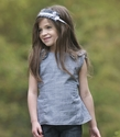 Persnickety Winnie Top for Girls Forget Me Not