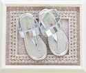Petalia Bow Sandals for Girls in Silver