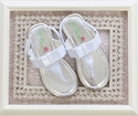 Petalia White Bow Sandals for Toddler and Girls