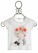 Petit Lem Girls Top with Glamorous Girl (2,3,6)