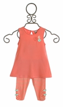 Petit Lem Infant Girl Outfit with Bow Back