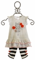 Petit Lem Infant Tunic with Leggings Rosie Cutie