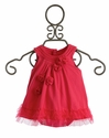 Petit Lem Romper Baby Dress with Rosettes