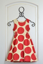 Pink Chicken Red Polka Dot Dress