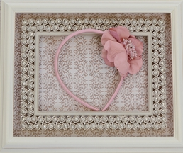 Pink Pewter Alice Headband for Girls