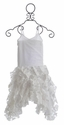 Pixie Girl Flower Girl Dress in White Vizcaya (3T, 4T, & 8)