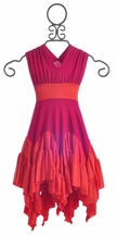Pixie Girl Fuchsia and Orange Maxi Dress (Size 2T)
